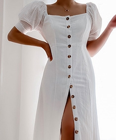 Adore You Buttons-down Dress
