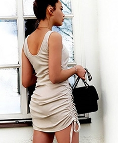 Beauty Game Drawstring Dress