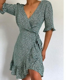 Forget Me Not Wrap Dress