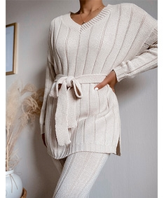 Perfection Belted Knit Set