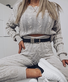 In Love Cable Knit Set