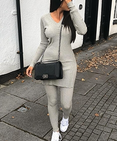 All Day Ribbed Knit Set