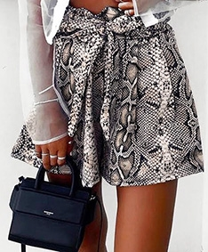 Wild Belted Shorts