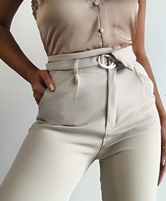 Lux Femme Belted Pants