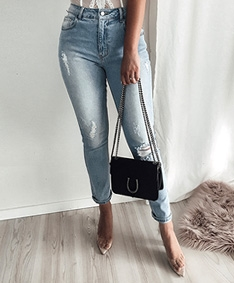 New Curve Ripped Jeans