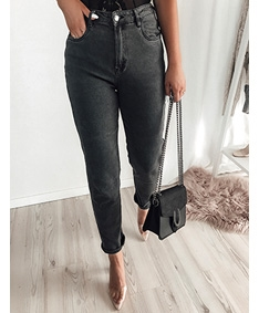 Curve Love Black Grey Moms Jeans