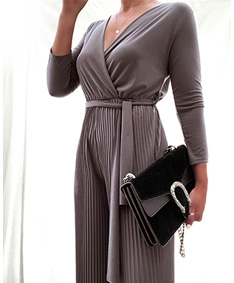 Just Love Pleated Maxi Jumpsuit